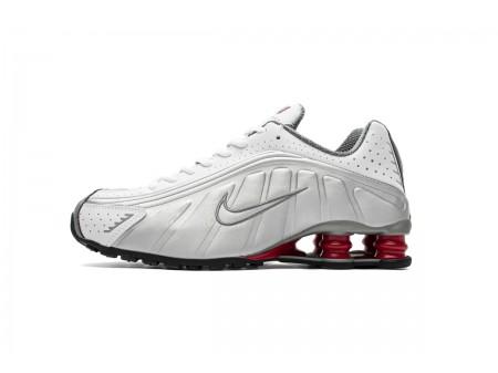 Nike Shox R4 Weiß Silber Komet Rot BV1111-100 Herren Damen-20