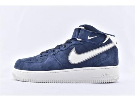 Nike Air Force 1 07 Mittleres Wildleder 3M Dunkelblau AA1118-007 Herren Damen-20