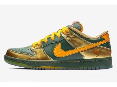 Nike SB Dunk Pro Low 'Doernbecher' Tanne/Universität Gold-Metallisches Gold BV8740-377 Herren Damen