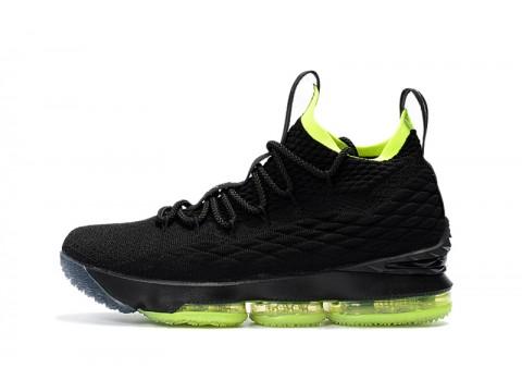 Nike LeBron 15 Noir/Volt Chaussures de Basketball Hommes-31