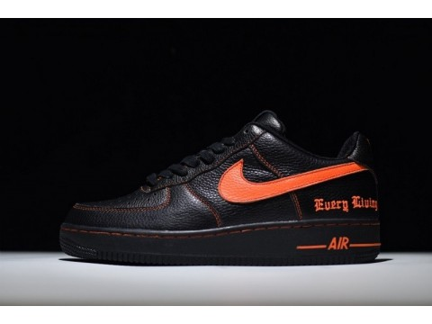 "Nike Air Force 1 07 Low VLONE ComplexCon Exclusive ""Noir Orange"" 815771-991 pour Homme et Femme-31"