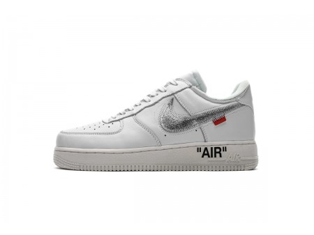 Off White X Nike Air Force 1 Low Complex Con Exclusive AO4297-100 Homme