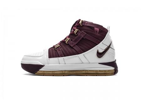 """Nike Zoom Lebron III QS """"Chris The King"""" Blanc/Marron foncé BQ2444-100 Homme-20"""