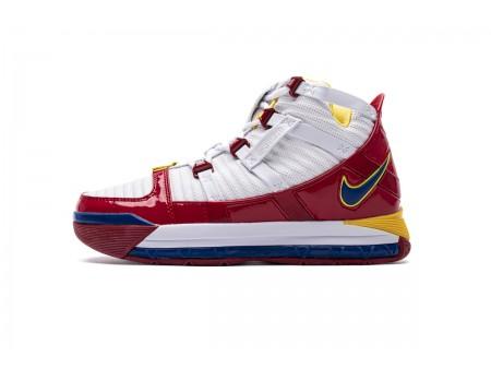 Nike Zoom Lebron III QS Blanc Superman Rouge AO2434-100 Homme-20