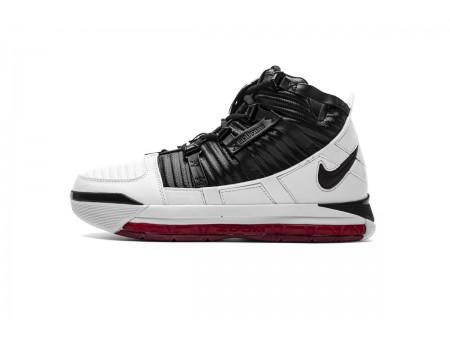 "Nike Zoom Lebron III QS ""Home Release"" Blanc Noir/Rouge foncé Campus AO2434-101 Homme-20"