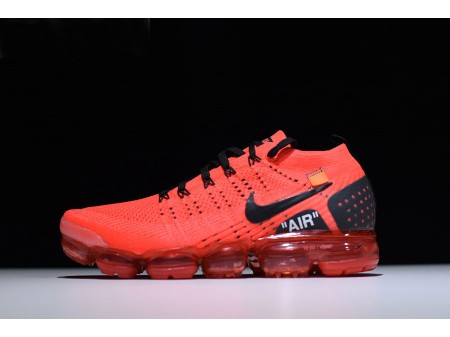 Off White x Nike Air Vapormax Flyknit 2.0 'Gym Rouge' Hommes