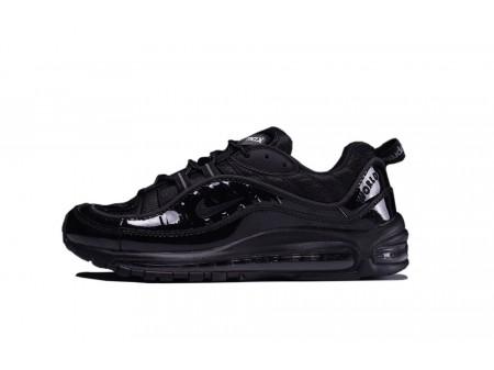 Supreme X Nike Air Max 98 All Noir 844694-001 pour Homme-20