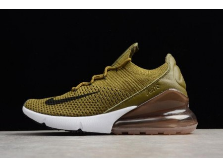 Nike Air Max 270 Flyknit Olive Flak Army Vert/Noir-Coffee Blanche AO1023-300 Homme-20