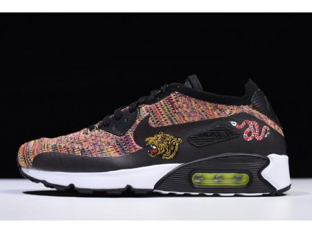Nike Air Max 90 Ultra 2.0 Flyknit Mult-Color 875943-002 Homme-20