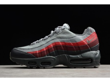 Nike Air Max 95 Essential Anthracite/Cool Gris-Rouge Chaussures de course 749766-025 Homme