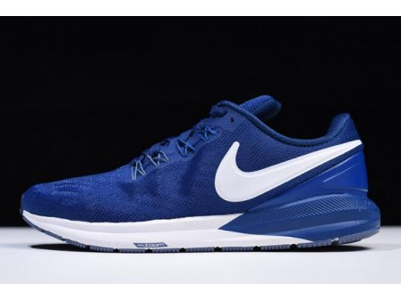 Nike Air Zoom Structure 22 Gym Bleu/Blanc AA1638-404 Homme-20
