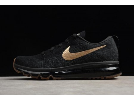 Nike Flyknit Air Max Noir Or Chaussures de course 845615-993 Hommes-20