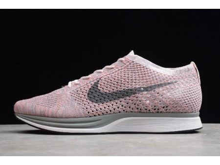 Nike Flyknit Racer Strawberry Rose Perle/Gris Froid 526628-604 Homme Femme-20