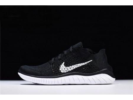 Nike Free Rn Flyknit 2018 Noir Blanc Chaussures de course 942838-001 Homme Femme-20