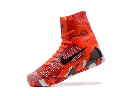 Nike Kobe 9 Elite Christmas Bright Cramoisi/Noir-Blanc 630847-600 Homme-20