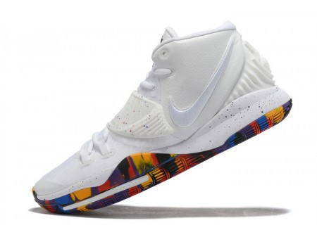 Nike Kyrie 6 Madness NCAA Blanc/Multicolore Homme-20