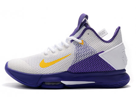 Nike LeBron Witness 4 EP Lakers Blanc/Amarillo-Field Violette CD0188-100 Homme-20
