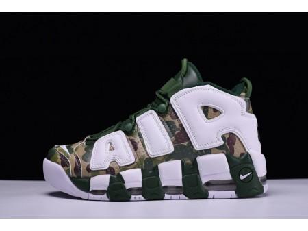 Bape x Nike Air More Uptempo OG Vert Camouflage 921948-313 pour homme et femme