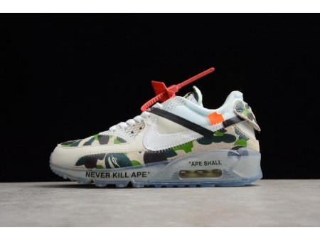 Off White x Nike Air Max 90 Camouflage Sail/Blanche-Muslin AA7293-101 Homme Femme-20