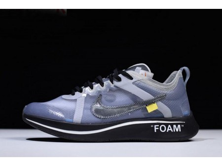 Off White x Nike Zoom Fly SP Noir/Gris-Blanc Chaussures Hommes Femmes-20
