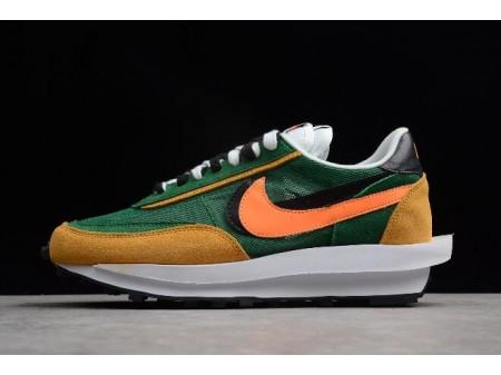 Sacai x Nike LDV Waffle Hybrid Vert Jaune Noir Orange 884691-300 Homme-20