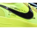 """Off White x Nike Air Force 1 Low """"Volt"""" 2.0 Hommes and Femmes-01"""