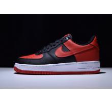 Nike Air Force 1 Af Og Chicago Bulls Schwarz Rot 820266-009 für Herren und Damen