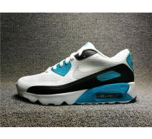 Nike Air Max 90 Blanche Noir Bleu pour Homme